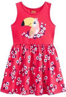 Vestido Infantil Vermelho Melancia