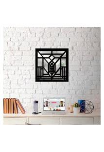 Escultura De Parede Wevans Abstrato + Espelho Decorativo Único