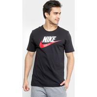 7db79b6ba5 Camiseta Nike Futura Icon - Masculino-Preto+Cinza