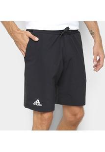 Short Adidas Club Stretch Woven 9 Masculina - Masculino-Preto