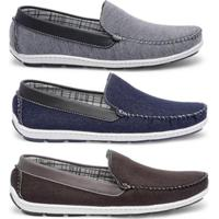df27c220ef Kit Mocassim Casual Style Prime Shoes Masculino - Masculino-Cinza