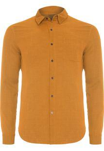 Camisa Masculina Duo Color - Marrom