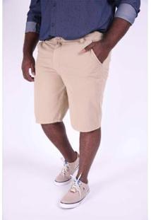 Bermuda Kauê Plus Size Color Masculina - Masculino-Bege