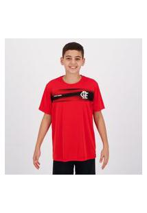Camisa Flamengo Chain Infantil Vermelha