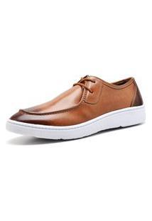 Sapato Masculino Esporte Fino Sandro Moscoloni Canadian Cacareco Marrom Claro Tan