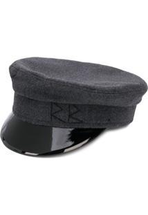 Ruslan Baginskiy Varnished Detail Hat - Cinza