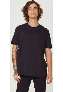 Camiseta Básica Masculina Em Malha De Algodão Super Cotton Com Bolso