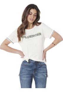 Camiseta Estampada Serinah Brand Influencer Branca