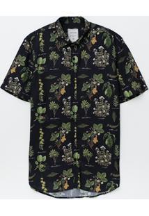 Camisa Regular Botânica