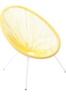 Cadeira Acapulco- Amarela & Branca- 85X69X50Cm- Or Design