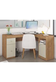 Mesa De Computador 2 Portas Work Buriti/Off-White - Caemmun