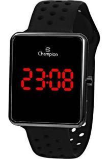 Relógio Champion Digital Ch40081C Feminino - Feminino-Preto