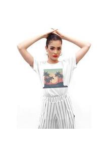 Camiseta Feminina Mirat Sunset Branco