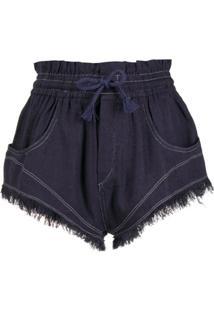 Isabel Marant Drawstring Short Shorts - Azul