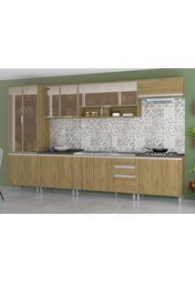 Cozinha Completa 7 Peças Kely Siena Móveis Rústico