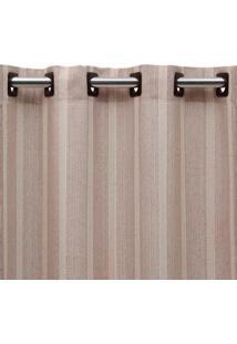 Cortina De Ilhós Vaticano 260X230 Nude E Cru Beca Decor