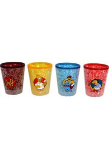 Conjunto De 4 Copos De Shots Gelo The Simpsons 50 Ml