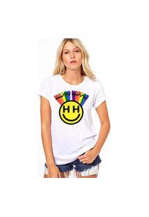 Camiseta Coolest Happy Hippie Branco