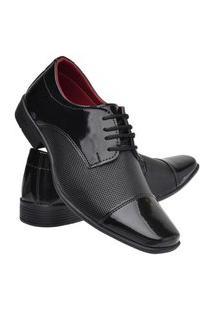 Sapato Social Masculino Leve Macio Dia A Dia Moderno Preto 37 Preto
