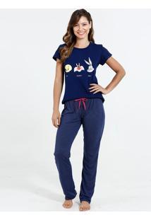 Pijama Feminino Estampado Looney Tunes
