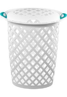 Cesto Plástico P/Roupas 46,5Lt - Sanremo Branco - Cód. 5525