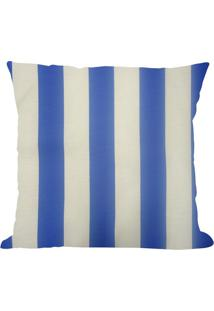 Capa Para Almofada Belize Listrada- Azul & Branca- 4Niazitex