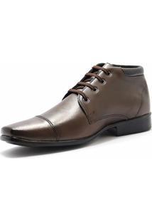 Bota Social Sw Shoes Linha Esporte Fino Marrom - Kanui