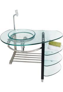 Gabinete Para Banheiro De Vidro Strauss Astra Transparente