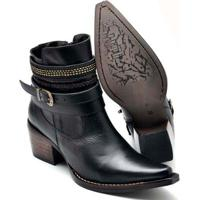 7b1df8385 Bota Top Franca Shoes Country Bico Fino Feminina - Feminino-Preto