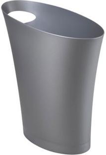 Lixeira Skinny 7,5 Litros Prata Umbra