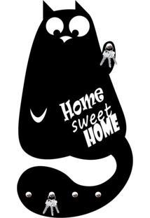 Porta Chaves Home Sweet Home Love Decor Preto