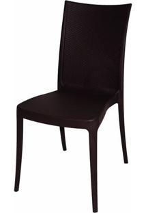 Cadeira Laura Fibra De Vidro Cor Marrom - 19614 - Sun House