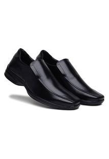 Sapato Social Masculino Antistress Confortável Calce Fácil - Preto