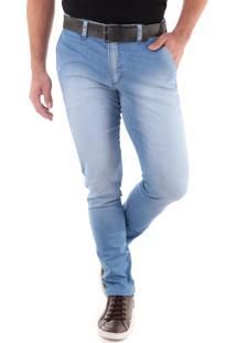Calça Jeans Skinny Chino Delavê Azul Indigo Traymon 2132