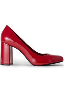 05402df556 Scarpin Bico Quadrado Textura feminino