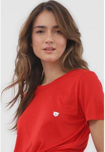 Camiseta Coca-Cola Jeans Urso Vermelha - Vermelho - Feminino - Viscose - Dafiti