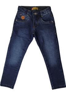 Calça Jeans Infantil Oznes Menino Azul - 4