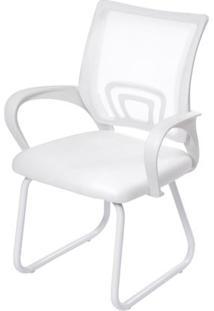 Cadeira Office Osorno Tela Mesh Branca Com Base Fixa Branca - 51832 - Sun House