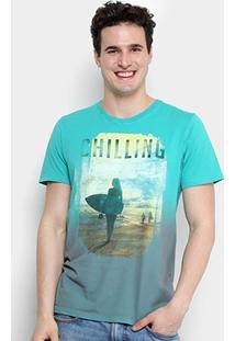 10fb584de Camiseta Colcci Estampada Surf Masculina - Masculino-Verde