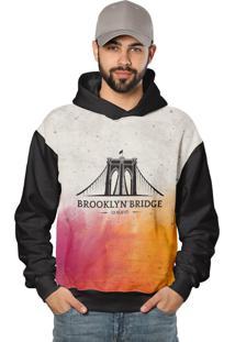 Casaco De Moletom Brooklyn Bridge Laranja Color - Kanui