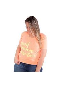Camiseta Birdz Estampada Laranja