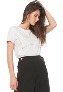 Camiseta Forum Pespontos Off-White