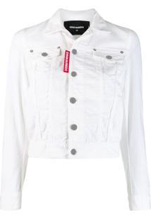 Dsquared2 Jaqueta Jeans Clássica - Branco