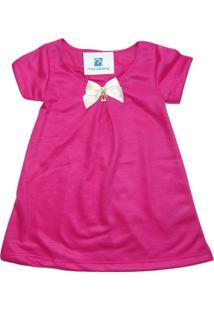 Vestido Moletom Verão Menina Enxoval Roupa Bebe Natal Manabana Pink