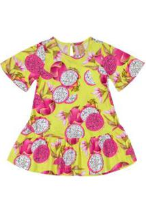 Vestido Infantil Pitaya Amarelo