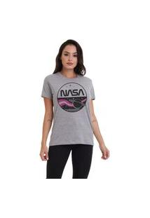 Camiseta Jay Jay Basica Nasa Cinza Mescla Dtg