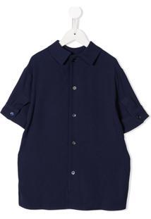 Marni Kids Camisa Mangas Médias - Azul