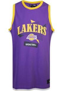 Regata Jersey Nda Los Angeleslakers Sport Basketboll New Era - Masculino