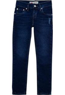 Calça Jeans Levis 510 Skinny Infantil - 30003 - Masculino-Azul Escuro