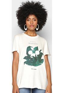 Camiseta Colcci Disney Eco Conscience Feminina - Feminino-Areia
